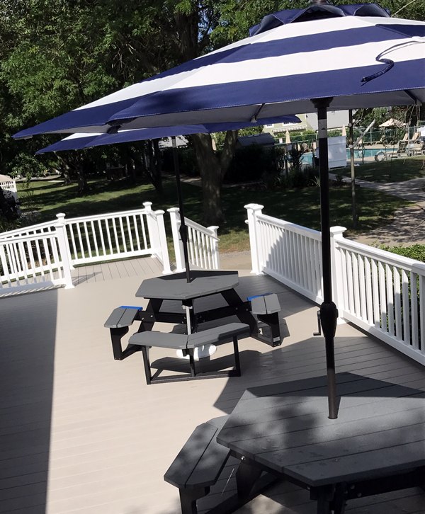 Deck with Umbrella