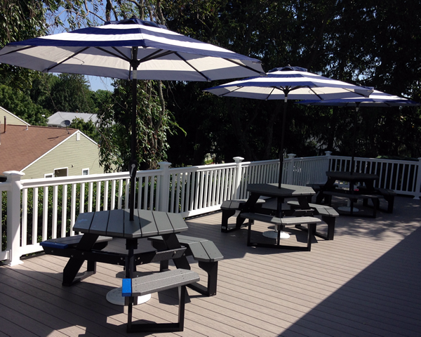 Deck with Umbrellas
